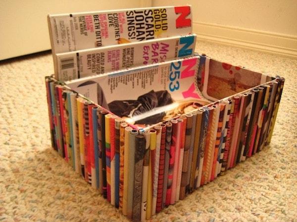 Diy recycled magazine box modern martha for Diy magazine box