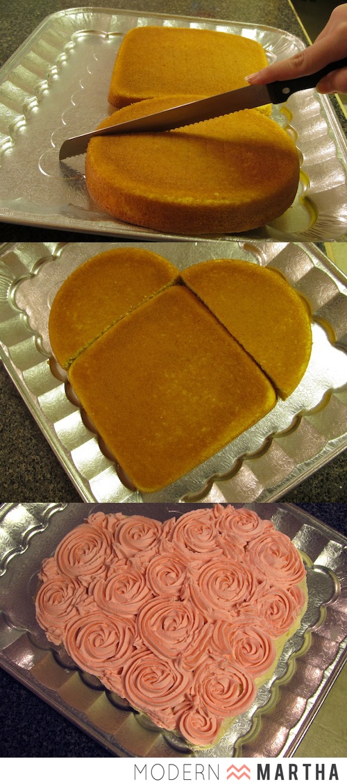 Heart Shaped Cake DIY for Valentine's Day