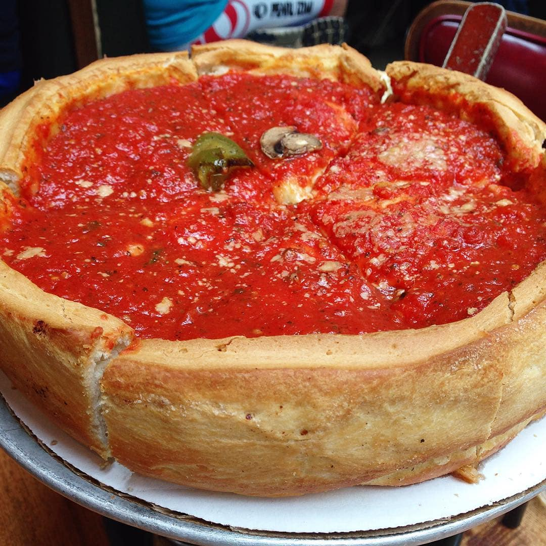 Stuffed from stuffed pizza giordanos chicago deepdish stuffedpizza deepdishpizza chicagoeats