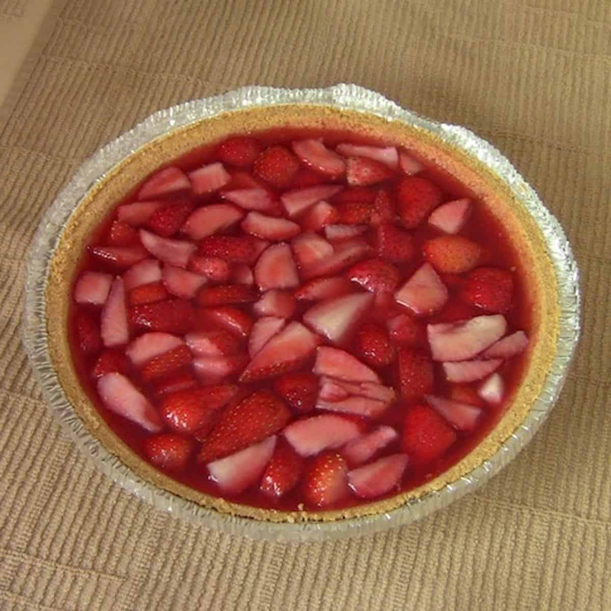 Strawberry Jello Pie.