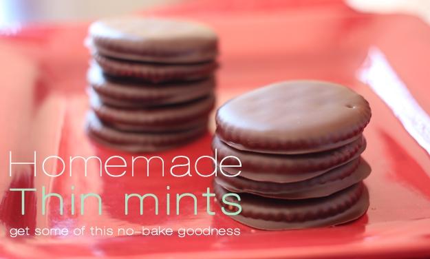 Homemade No-Bake Thin Mints