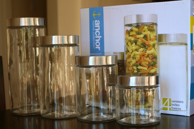 Anchor Hocking Glass Cylinder Canisters (4 piece set)