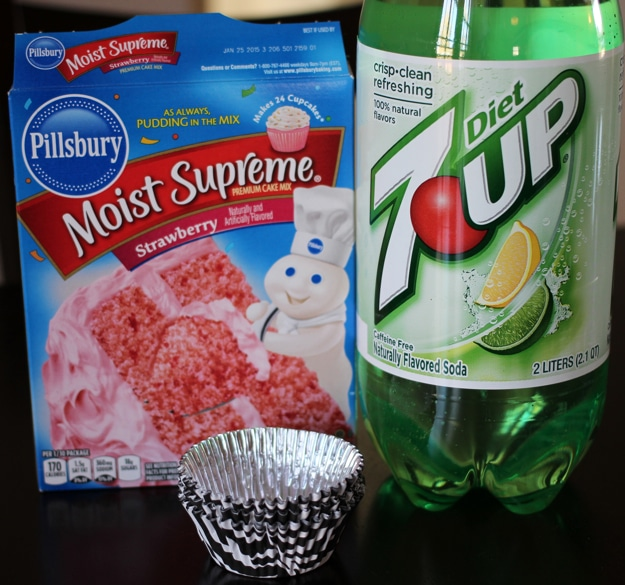 7UP Strawberry Cupcakes