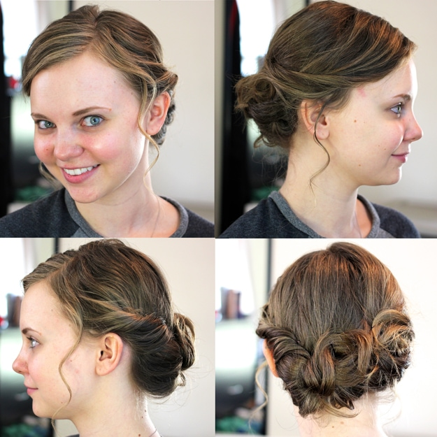 Messy Updo for Medium Length Hair