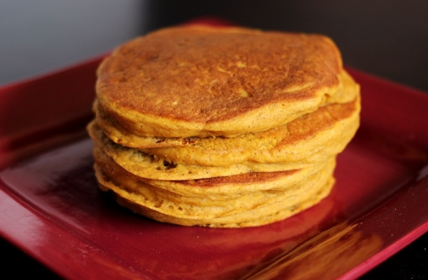 Vegan Bisquick Pumpkin Pancakes