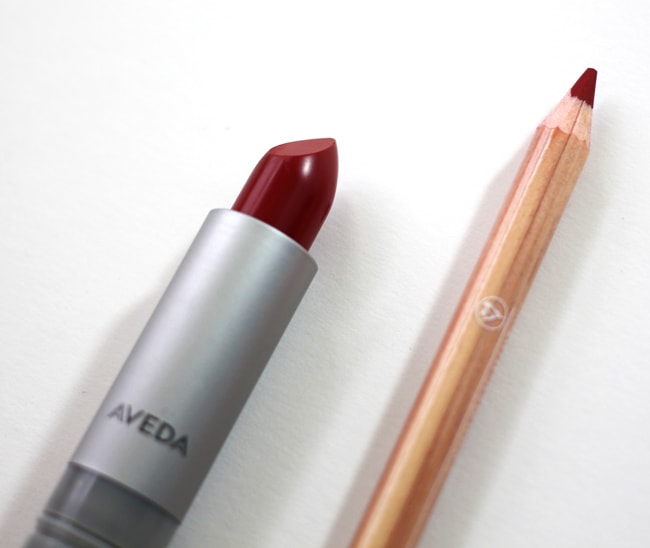 Aveda Lip Liner in Fire Maple and Lipstick in Goji Berry