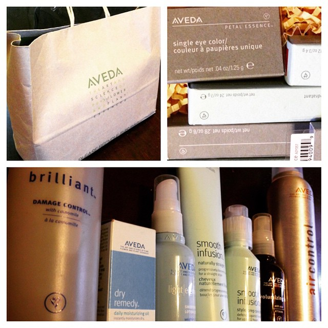 Thank you @aveda! #retailtherapy