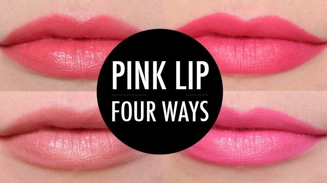Pink Lipstick Four Ways