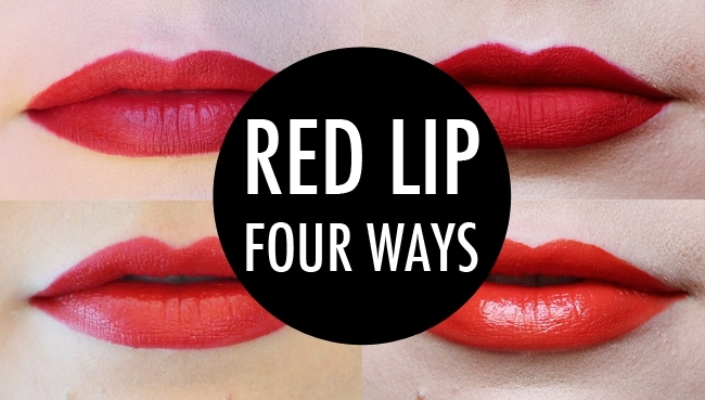Red Lip Four Ways