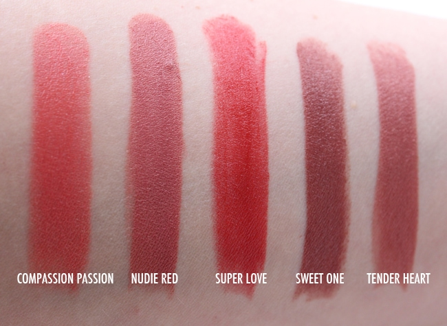 Pacifica Power of Love Natural Lipstick Swatches
