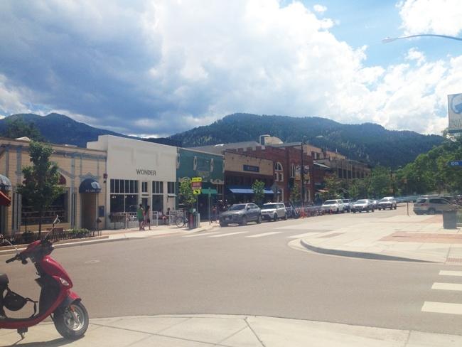 Pearl Street in Boulder Colorado