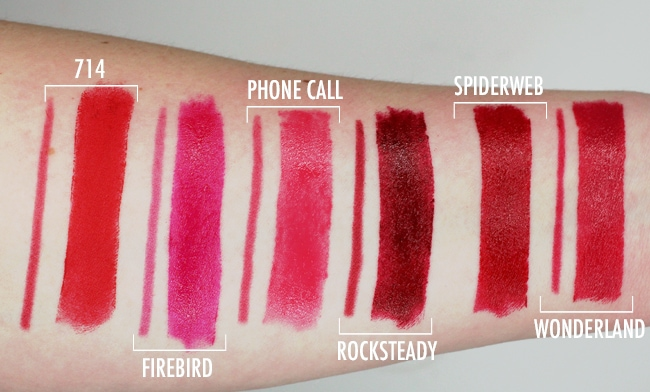 Urban Decay x Gwen Stefani Lipstick Swatches