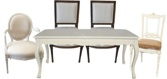 Mix & Matching French Dining Set