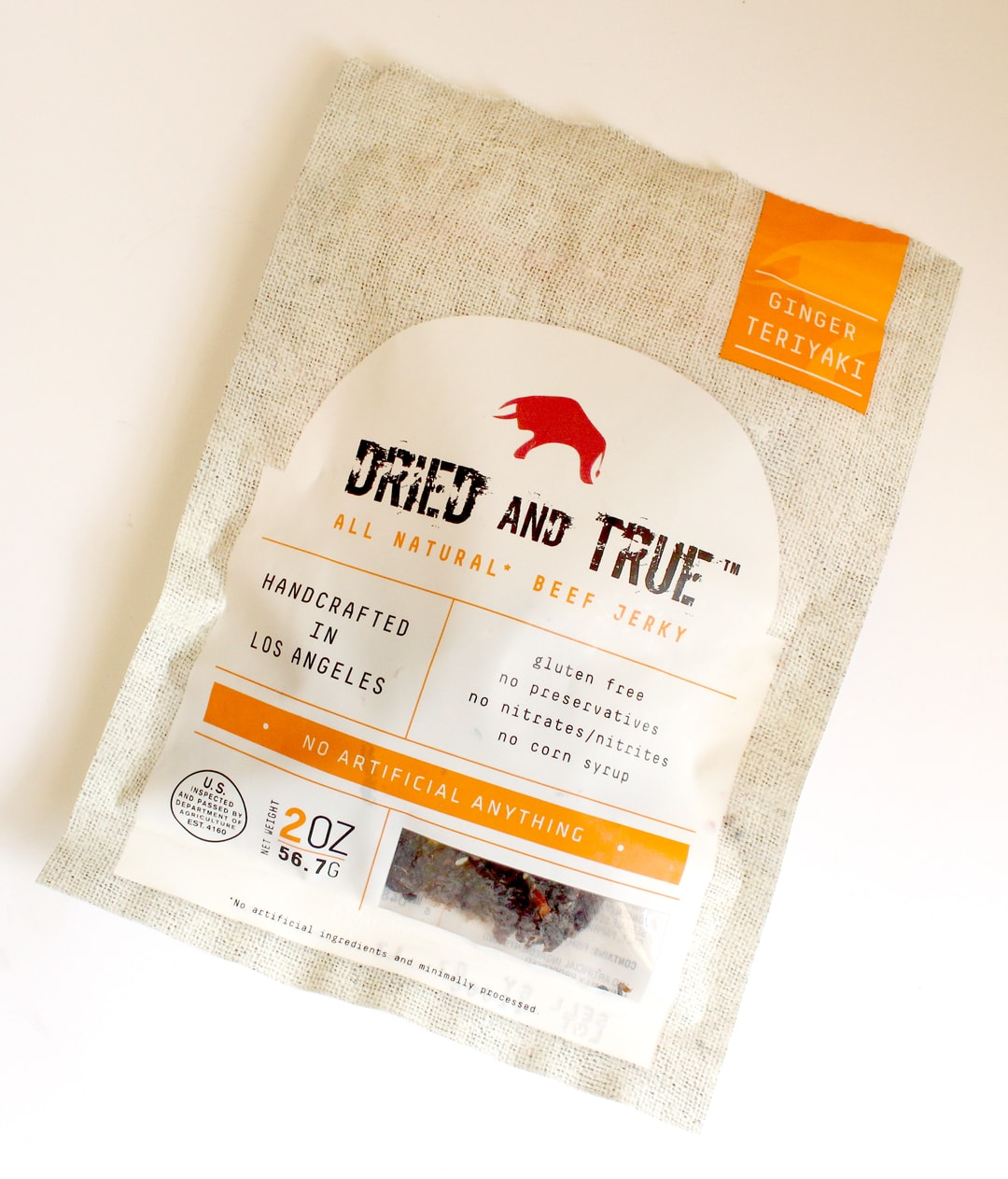 Dried & True Ginger Teriyaki Beef Jerky