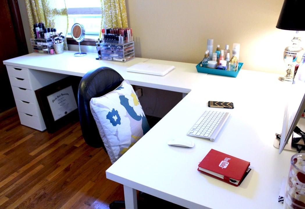 IKEA Desks & Office Makeover | Part One | Kelsey Smith