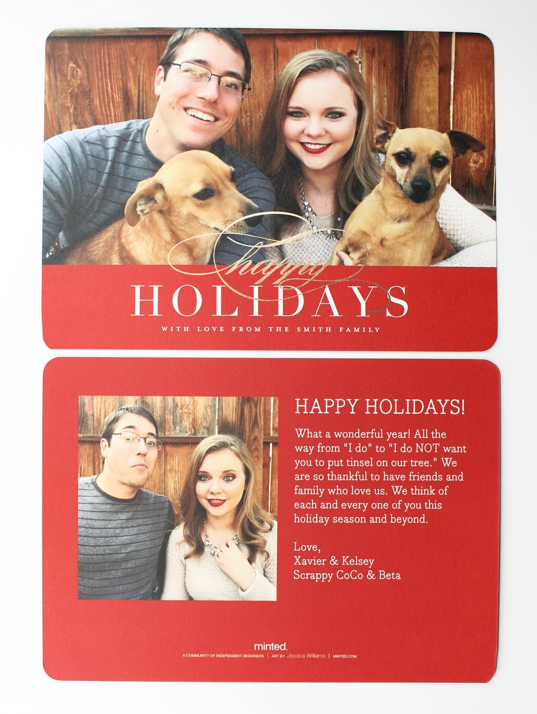 Minted Simple Elegance Holiday Photo Card