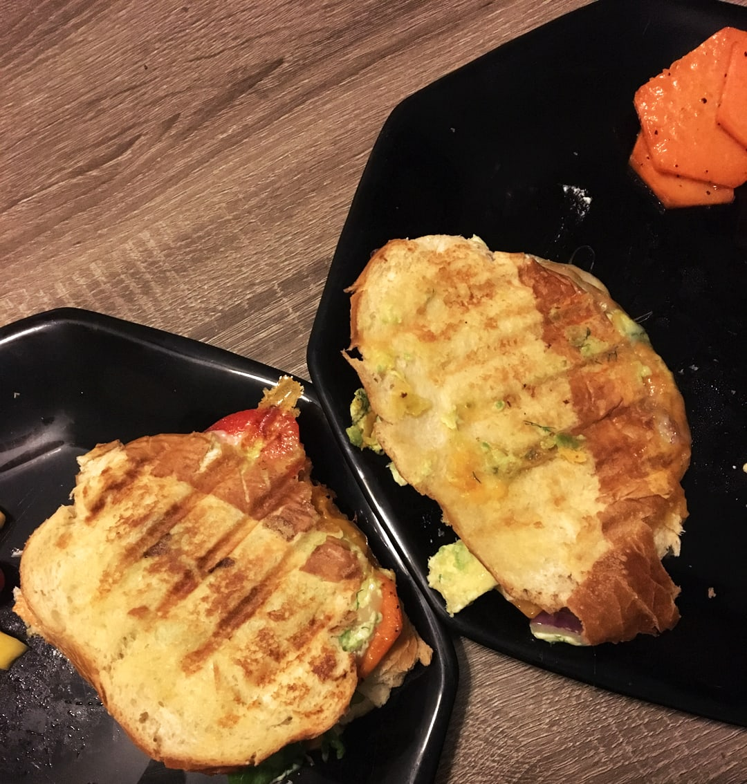 Grill Fight Avocado Paninis