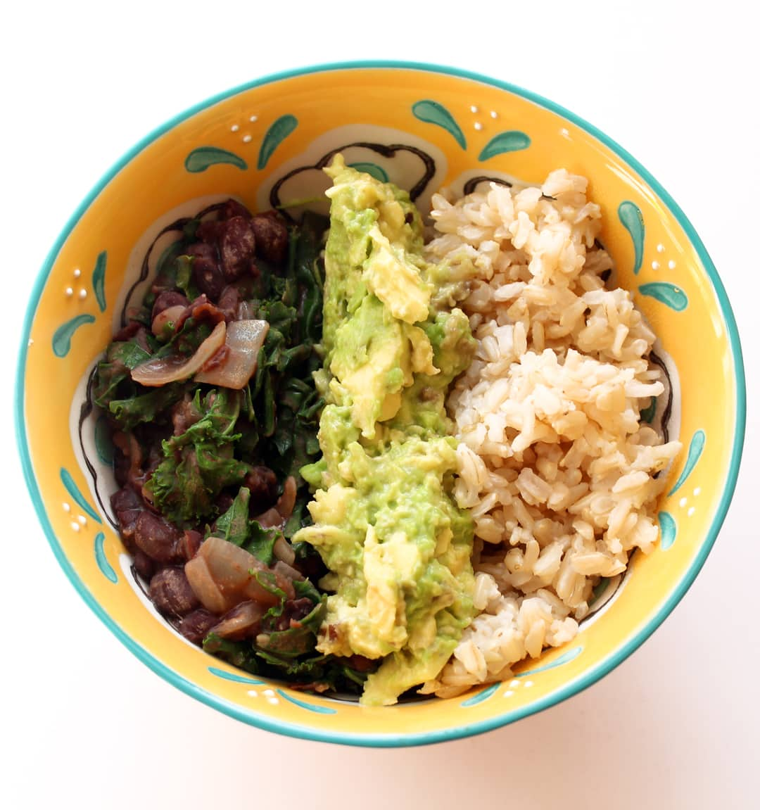 Black Bean and Rice Bowls with Guacamole