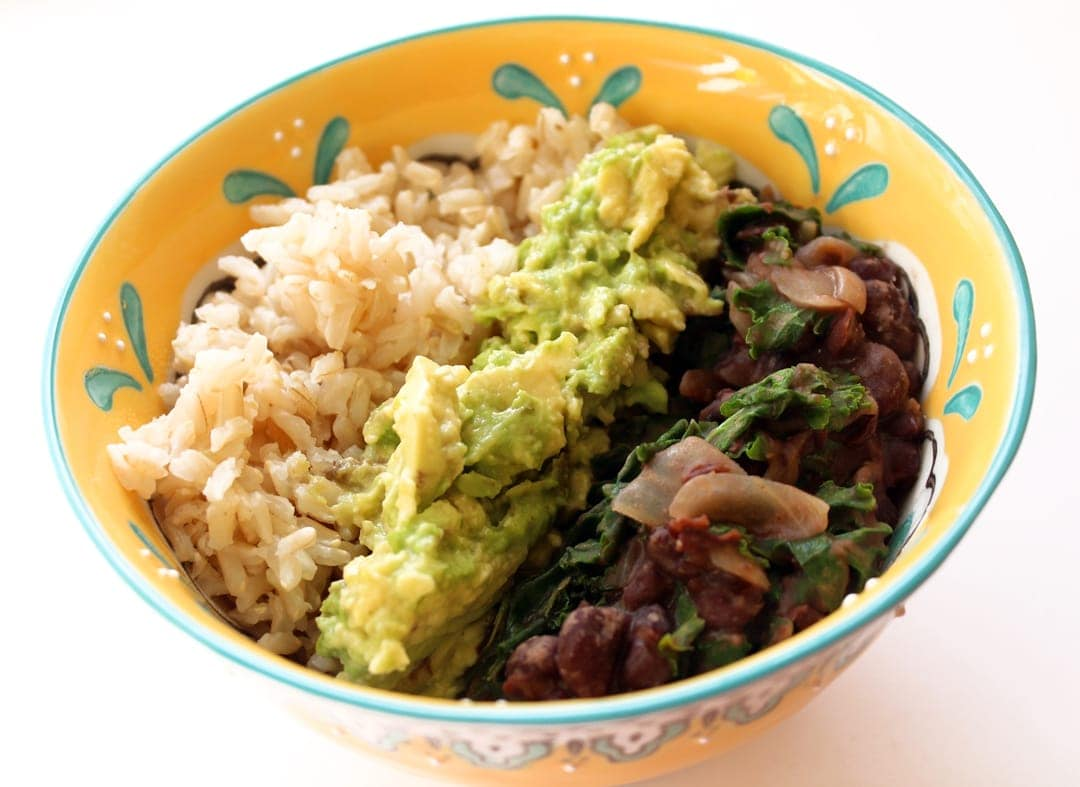 Black Bean Rice Bowls with Guacamole