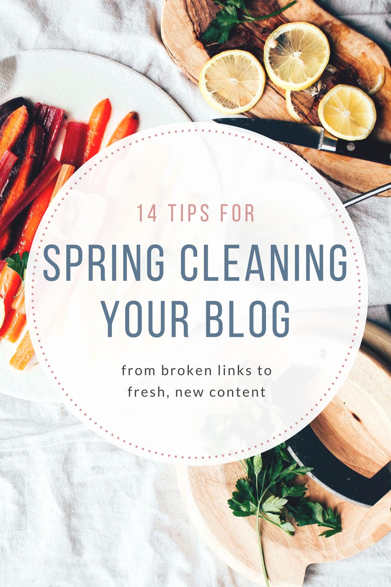 Tips for Spring Cleaning Your Blog
