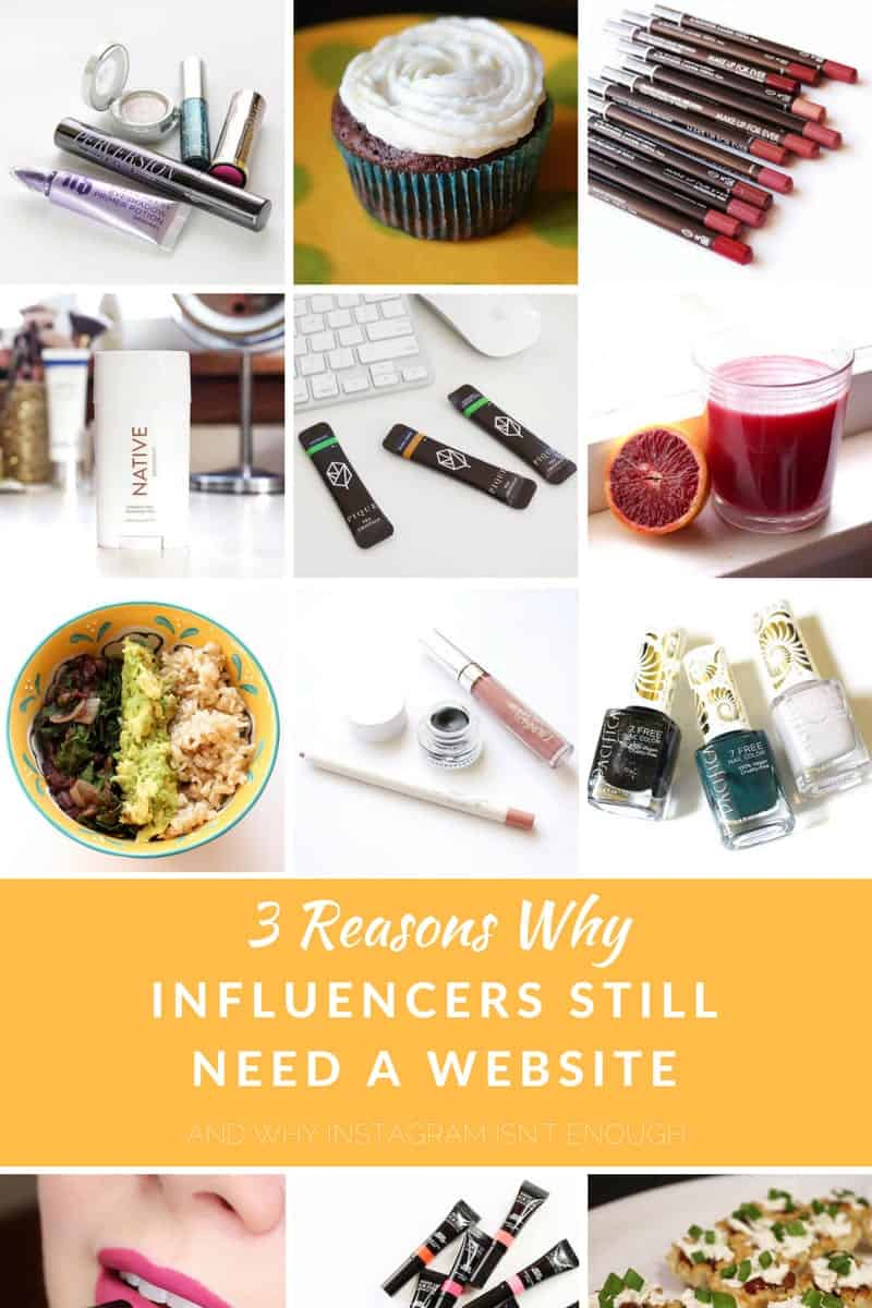 Why Influencers Still Need a Website and Why Instagram Isn't Enough