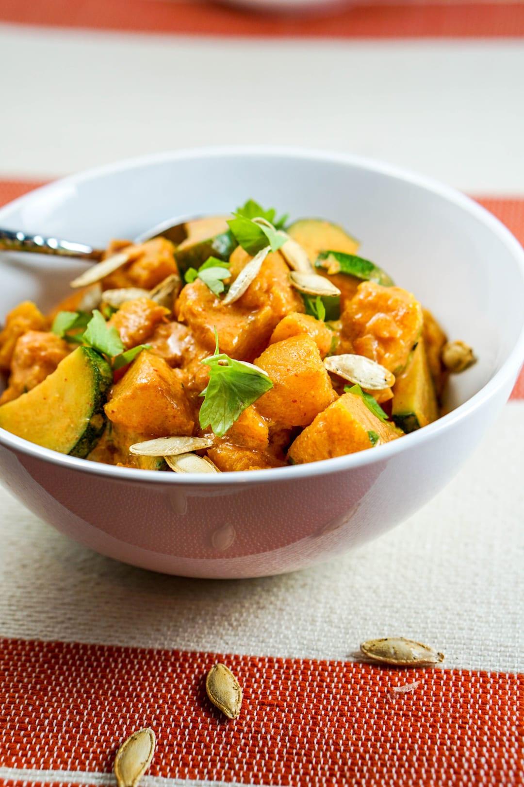 Roasted Pumpkin Coconut Curry