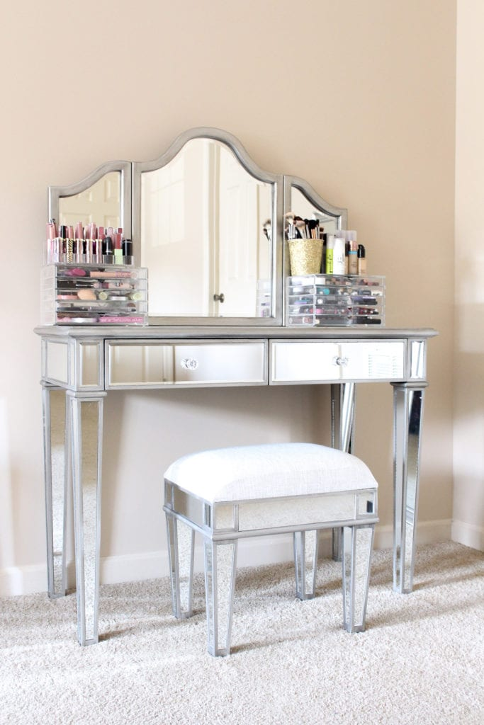 My Makeup Vanity And Storage, Mirrored Dressing Table Set Next