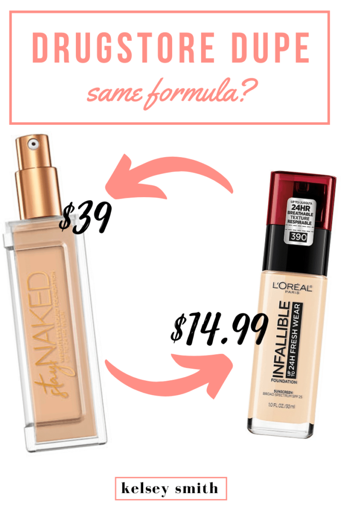 Urban Decay Stay Naked Liquid Foundation Dupe