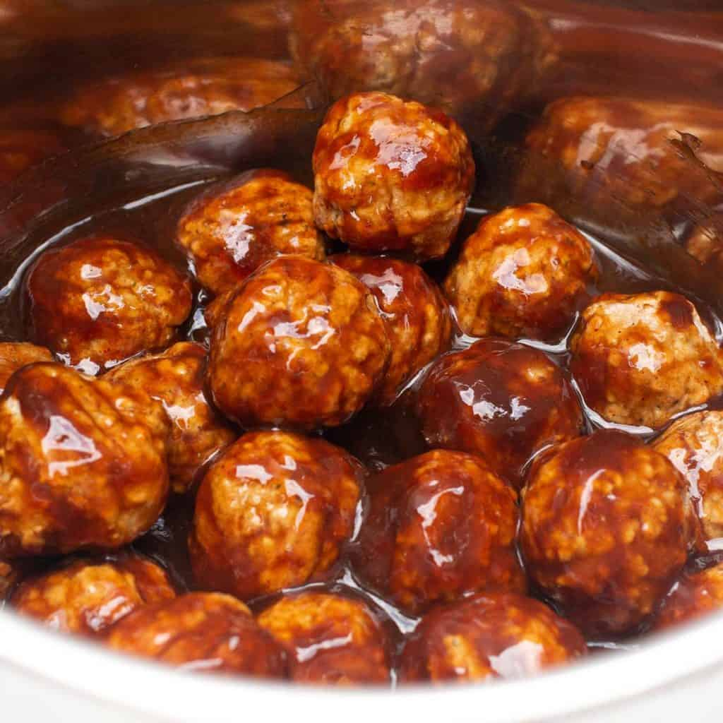 BBQ meatballs in an Instant Pot.